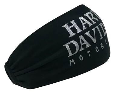 HARLEY DAVIDSON HEADBAND SCRUNCHIE, SKULL, BLACK