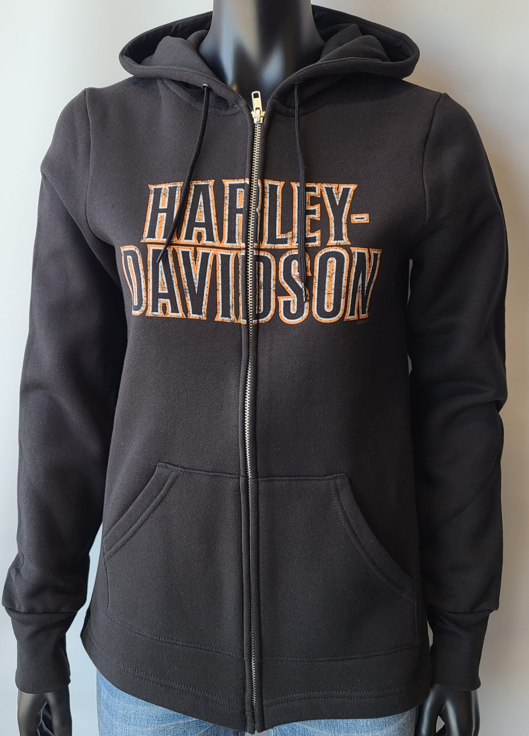 HARLEY DAVIDSON STACK FADED LDS HD ZIP SW