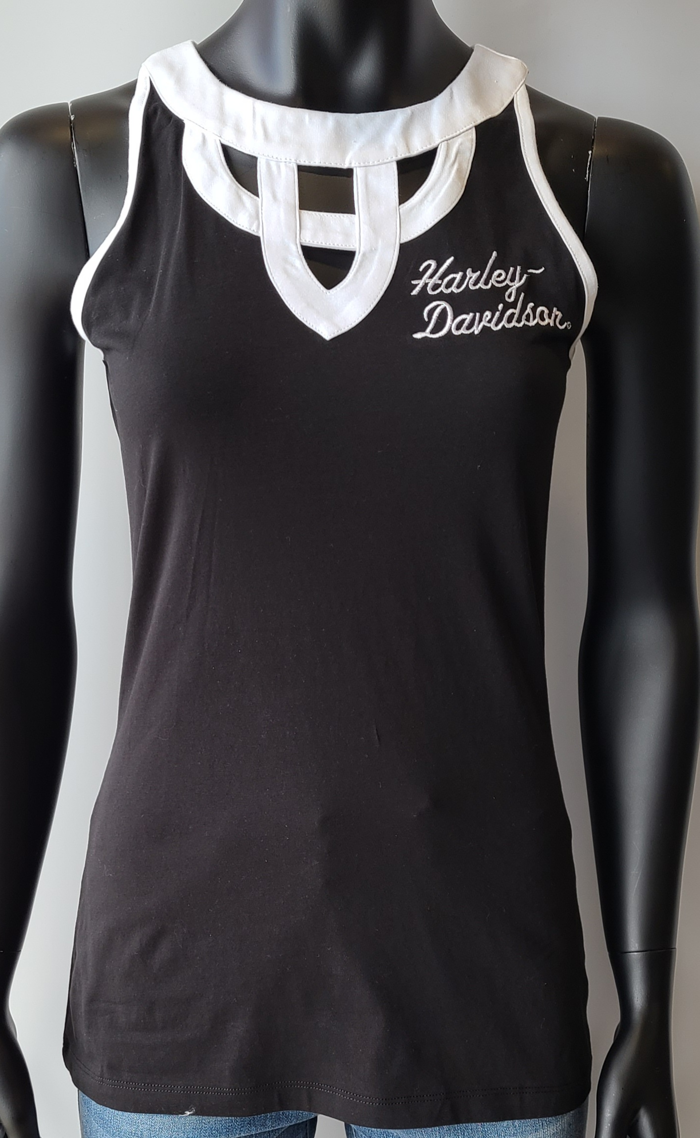 HARLEY DAVIDSON BLACK/WHITE*HANDS N HEARTS