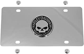 HARLEY DAVIDSON CHROME FRONT PLATE XWITH WILLIE G SKULL
