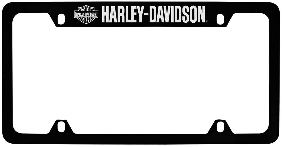 HARLEY DAVIDSON 4 HOLES BLACK FRAME WITH METALLIC LETTERING- TOP HD
