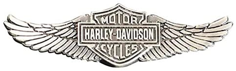 HARLEY DAVIDSON PIN, STRAIGHT WINGS, ZINC ALLOY FINISH, 3D DIE CAST, 2 1/4''