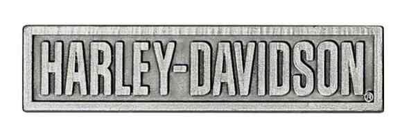 HARLEY DAVIDSON PIN, HARLEY-DAVIDSON, 3D DIE CAST HEAVY RELIEF ANTIQUE SIL