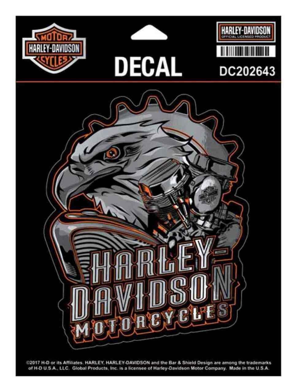 HARLEY DAVIDSON DECAL, EAGLE ENGINE, MD, GRAY