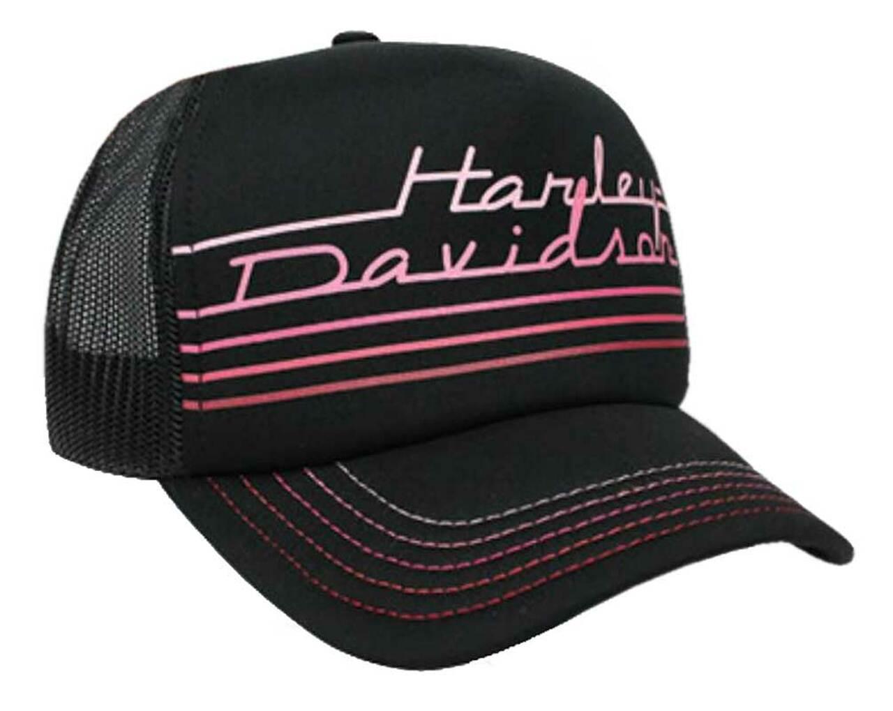 HARLEY DAVIDSON BALLCAP, LADIES, THROWBACK, BLACK