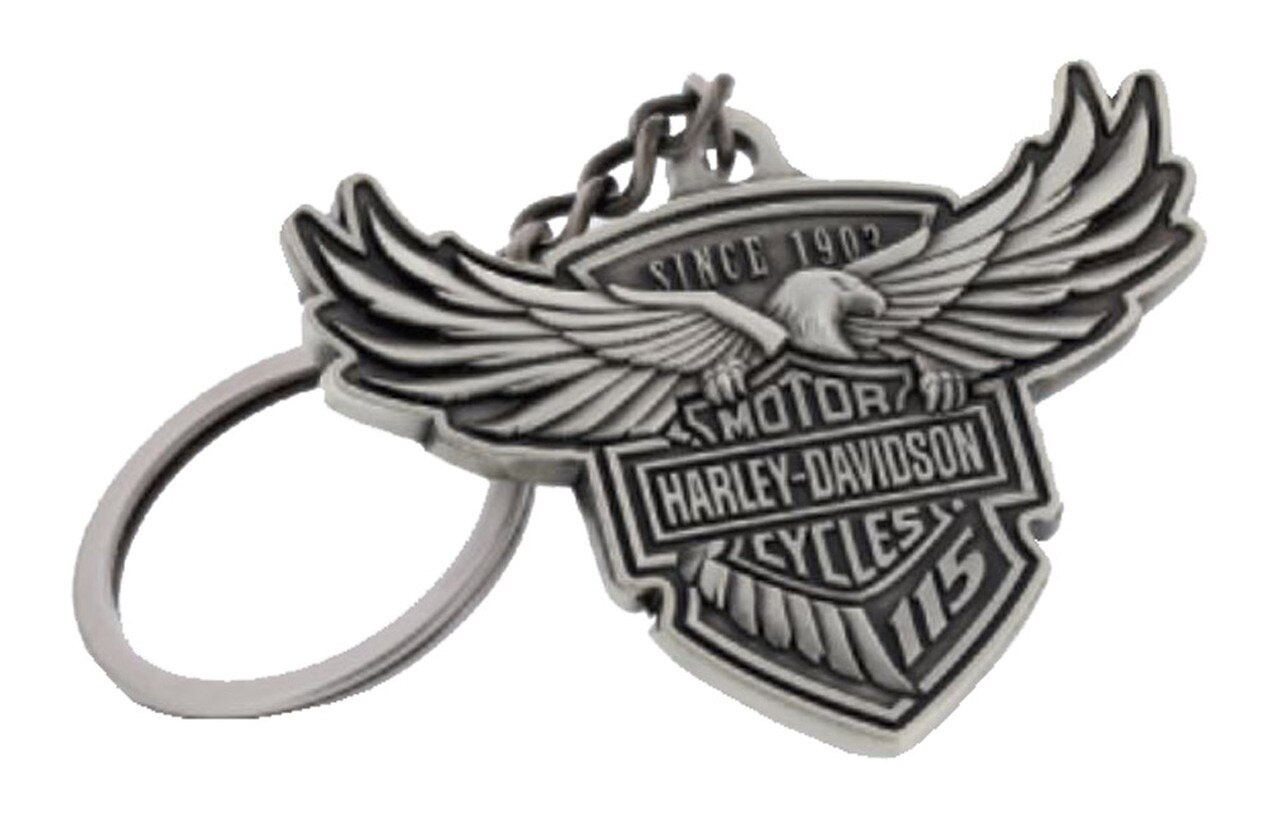 H-D 115TH HD KEYCHAIN 3D DESIGN MADE FROM ZINC