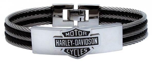 HARLEY DAVIDSON STEEL CABLE ID BRACELET