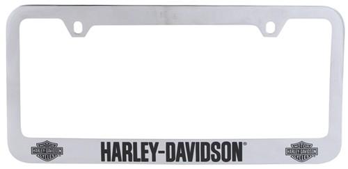 HARLEY DAVIDSON BLACK BAR AND SHIELD LICENSE FRAME UPC#052949101171