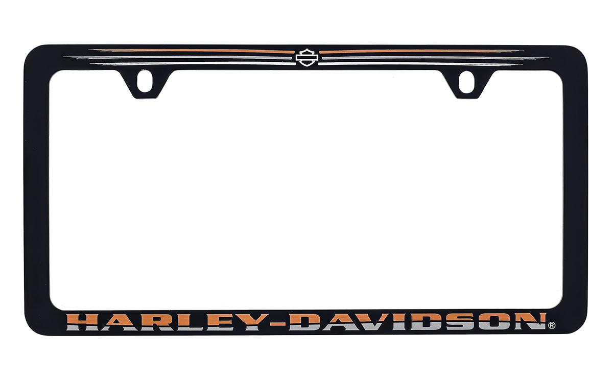 HARLEY DAVIDSON MATTE BLACK THIN RIM FRAME UV PRINTED