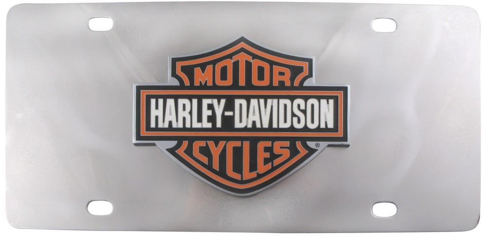 HARLEY DAVIDSON 3 COLOR BAR AND SHIELD EMBLEM LICENSE PLATE