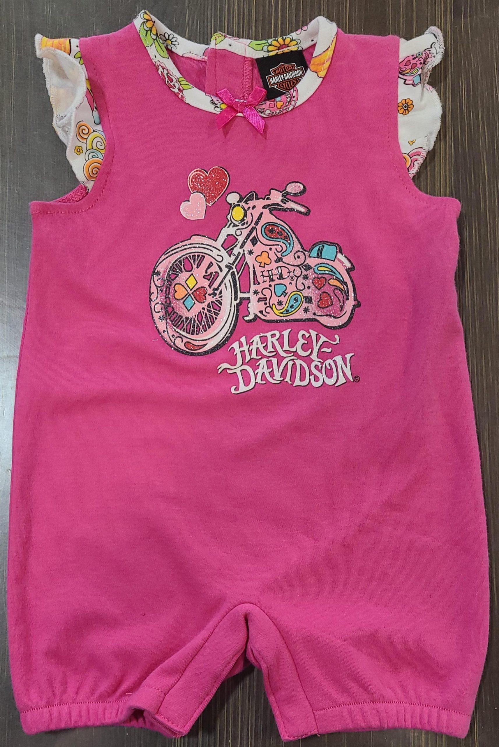 HARLEY DAVIDSON NEWBORN GIRL ROMPER PINK SIZE 3/6M