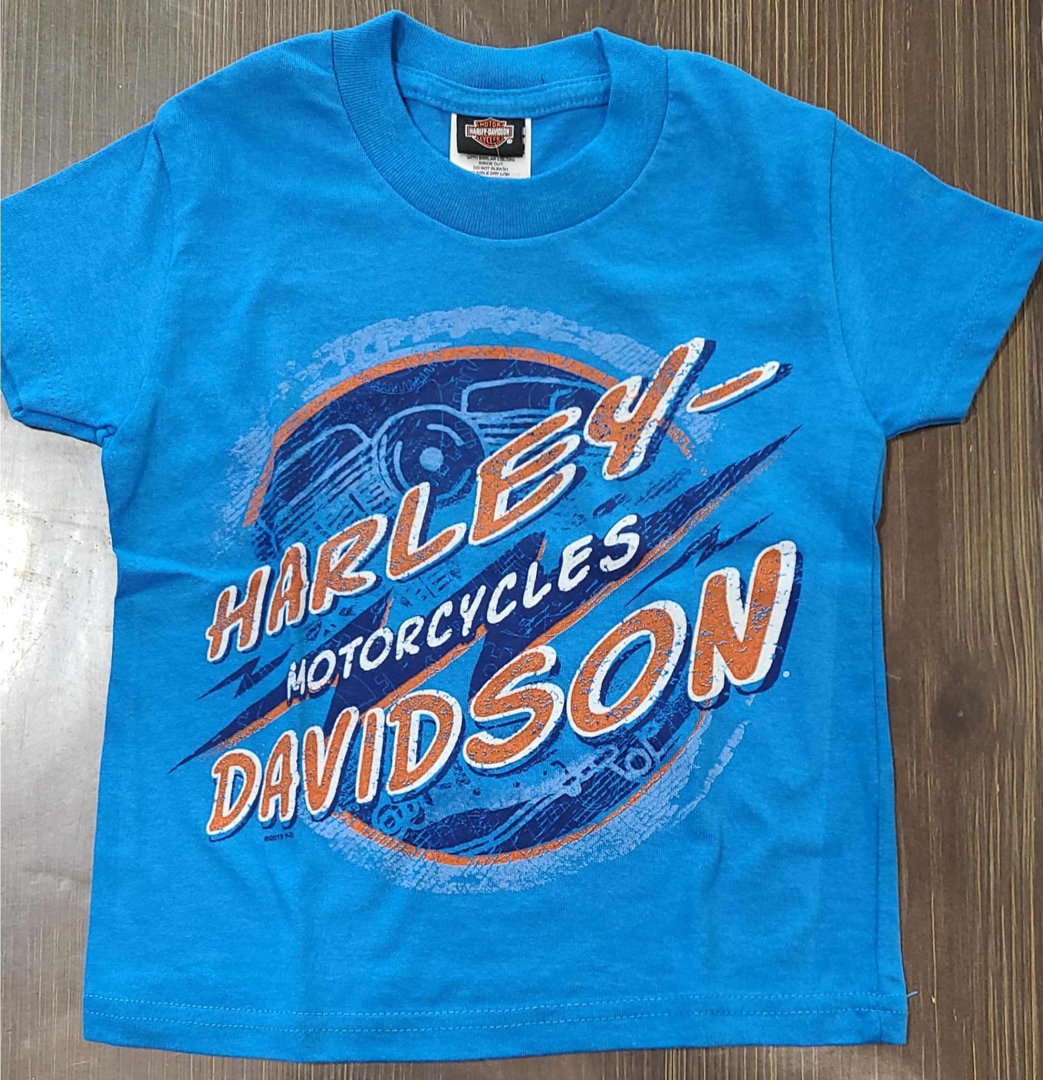 HARLEY DAVIDSON ELECTRIC BLUE*ROAD BUM SIZE 2T/8 ANS
