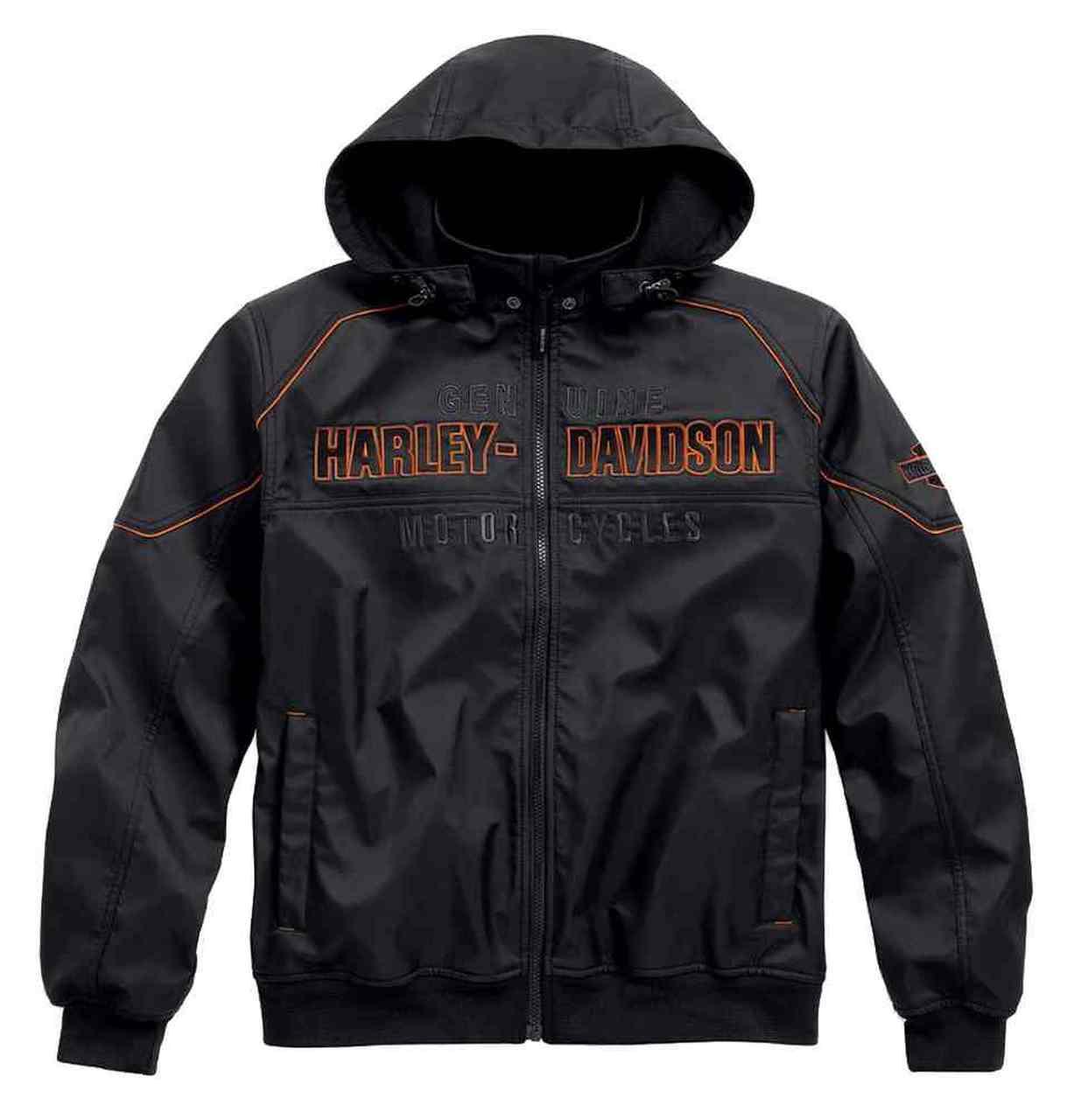 Harley-Davidson® Men's Idyll Performance Soft Shell Jacket, Black