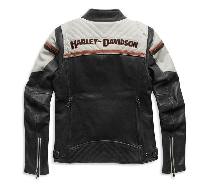 HARLEY DAVIDSON JACKET-TRIPLE VENT,LEATHER,BLACK