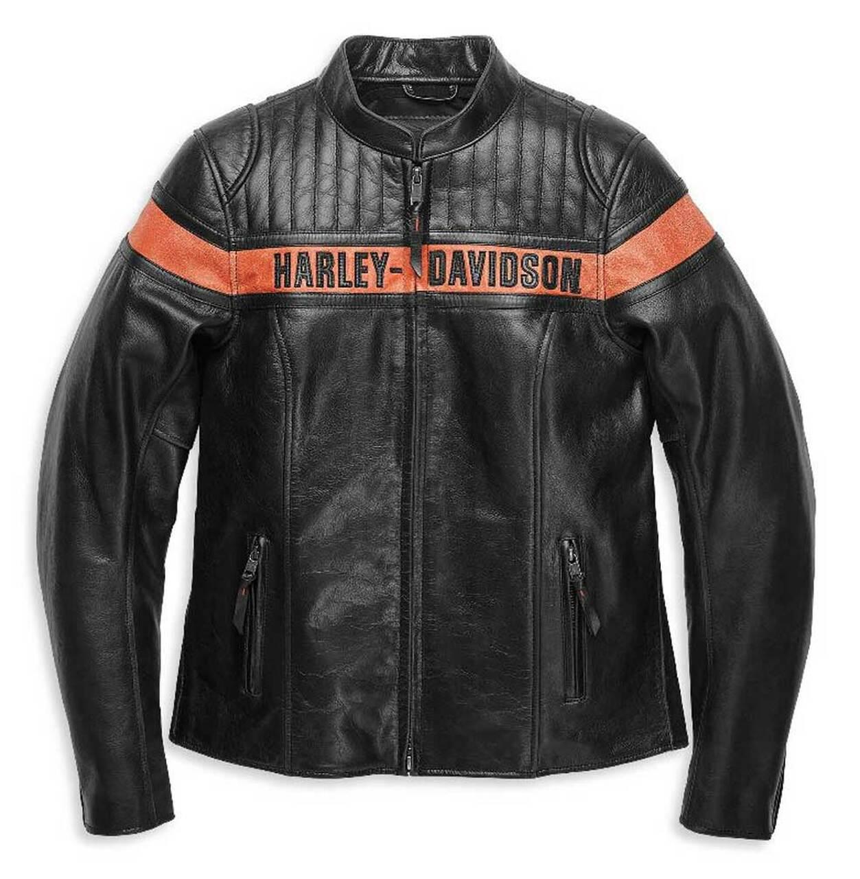 HARLEY DAVIDSON JACKET-VICTORY LAP,LEATHER,BLACK