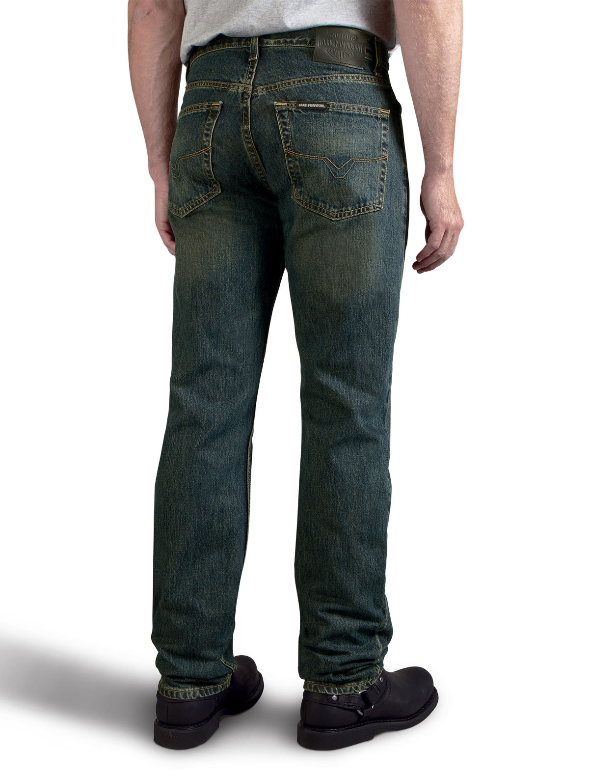 HARLEY DAVIDSON CLASSIC TRADITIONAL FIT JEANSMENS, WASHED BLUE