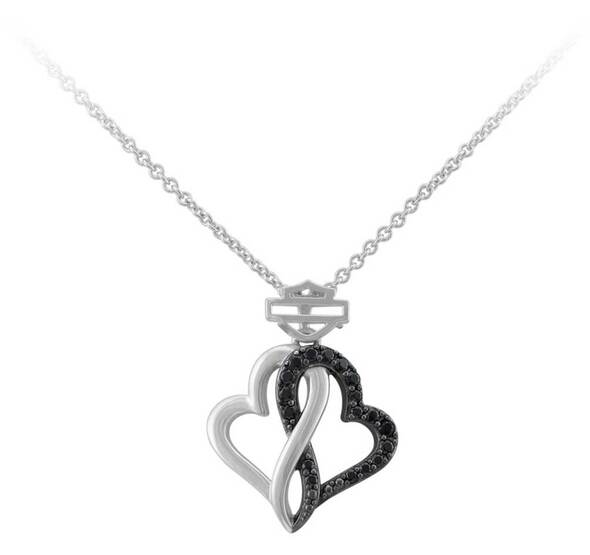 HARLEY DAVIDSON WHITE INFINITY HEARTS NECKLACE