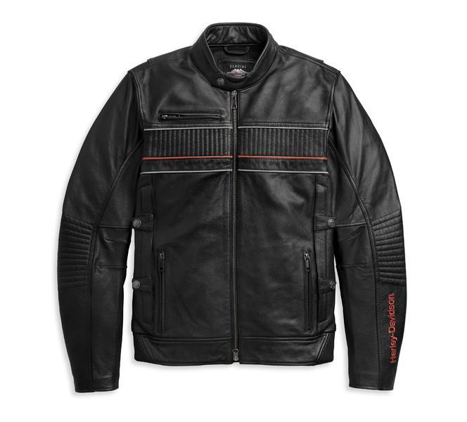 Harley Davidson JACKET-I94,TRIPLE VENT,LEATHER,BLACK