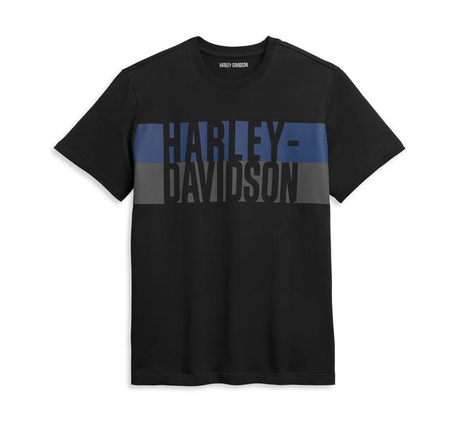 HARLEY DAVIDSON Men's Block Letter Logo Tee