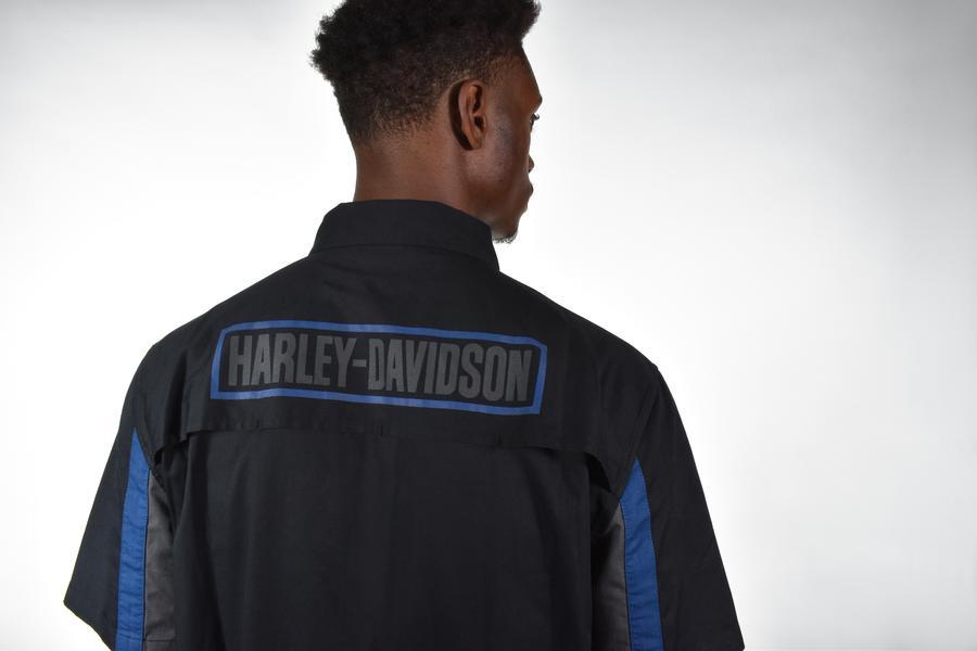HARLEY DAVIDSON SHIRT-WOVEN,COLORBLOCK