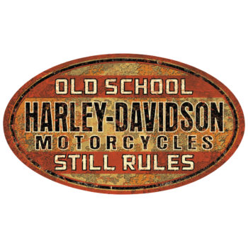 HARLEY DAVIDSON OLD SCHOOL RULES SIGN