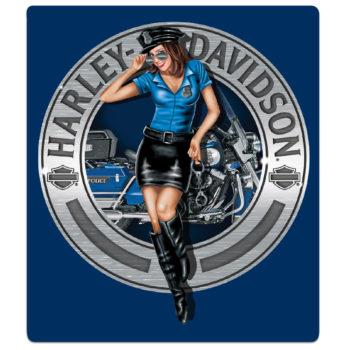 HARLEY DAVIDSON  POLICE BABE SIGN