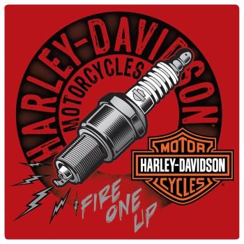 HARLEY DAVIDSON  SPARKED SIGN