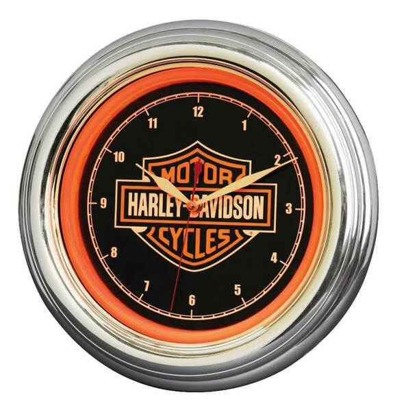 HARLEY DAVIDSON BAR & SHIELD LED CLOCK
