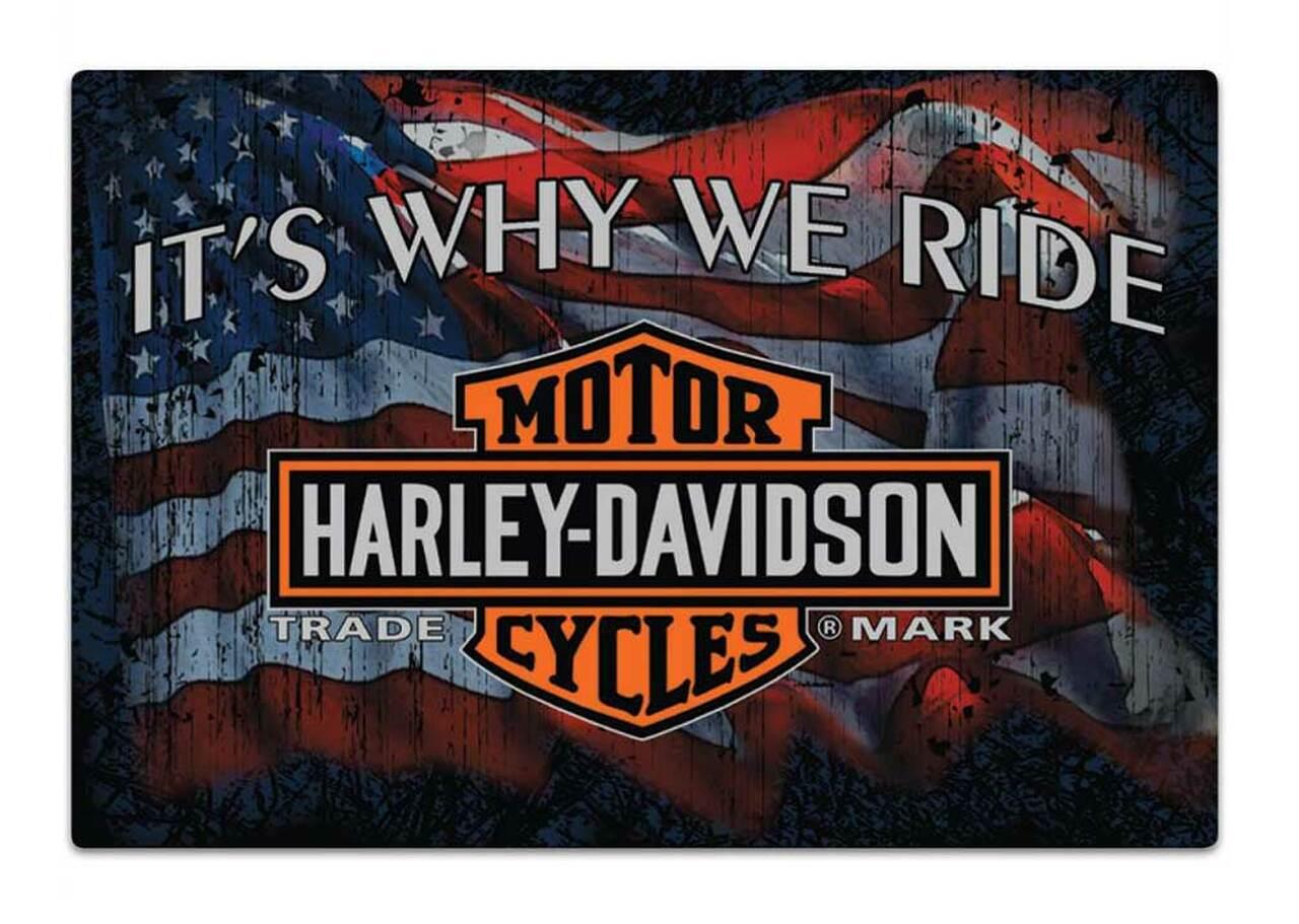 HARLEY DAVIDSON  WHY WE RIDE SIGN