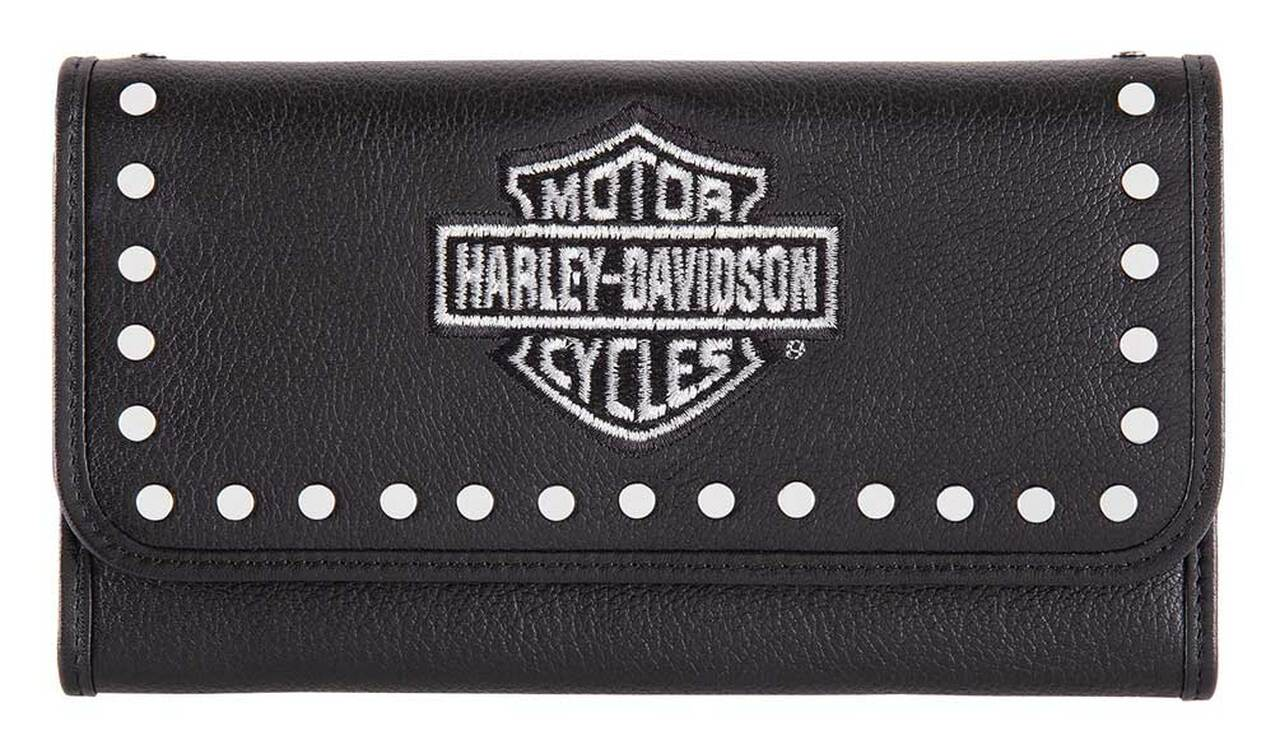 HARLEY DAVIDSON EMBROIDERY TRADITIONAL WALLET