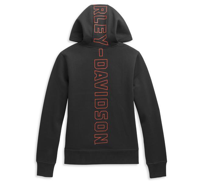 HARLEY DAVIDSON Women's Pullover Sweater Vertical Hoodie
