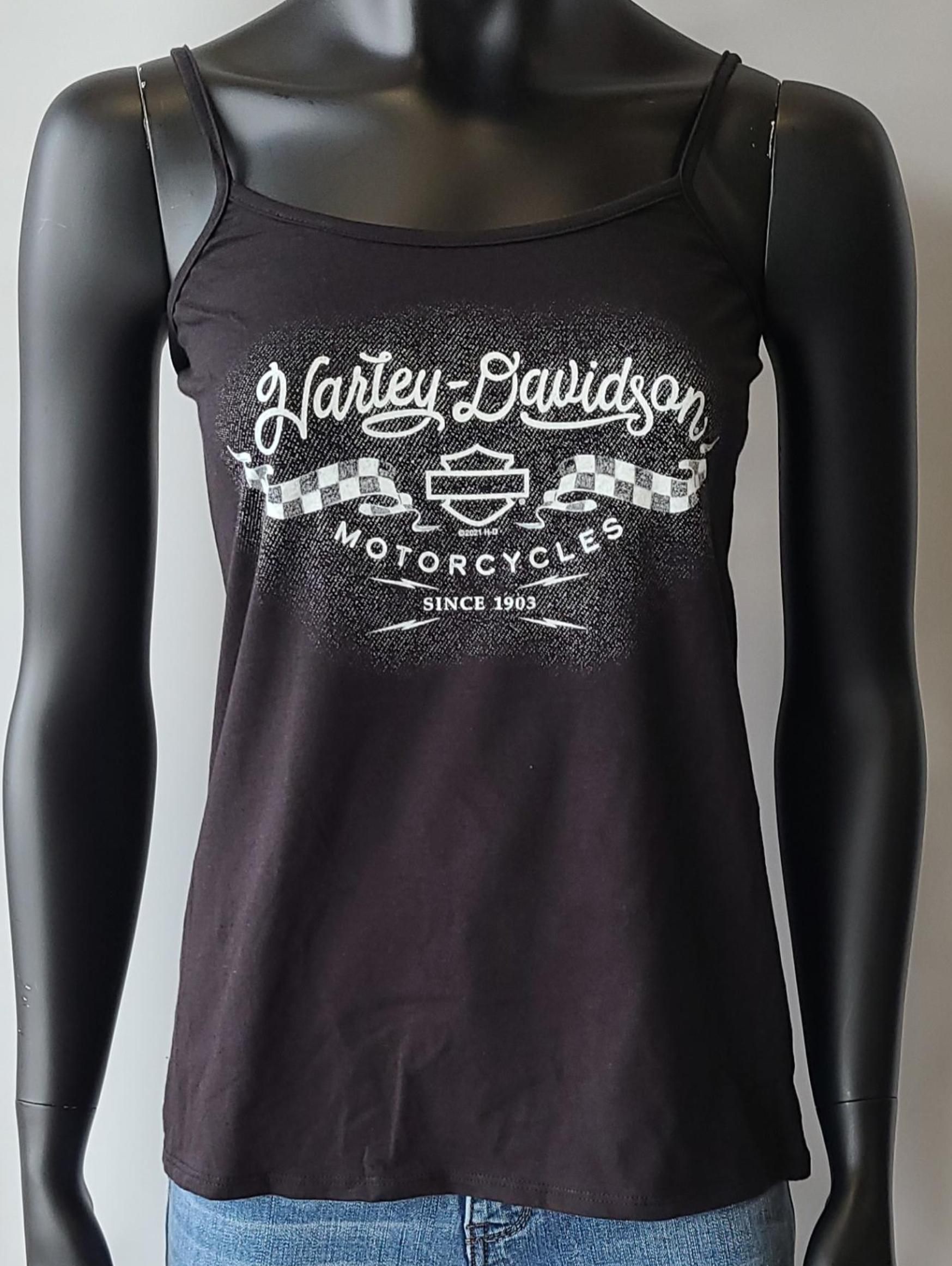 HARLEY DAVIDSON CHARGED NAME LDS STRING TOP