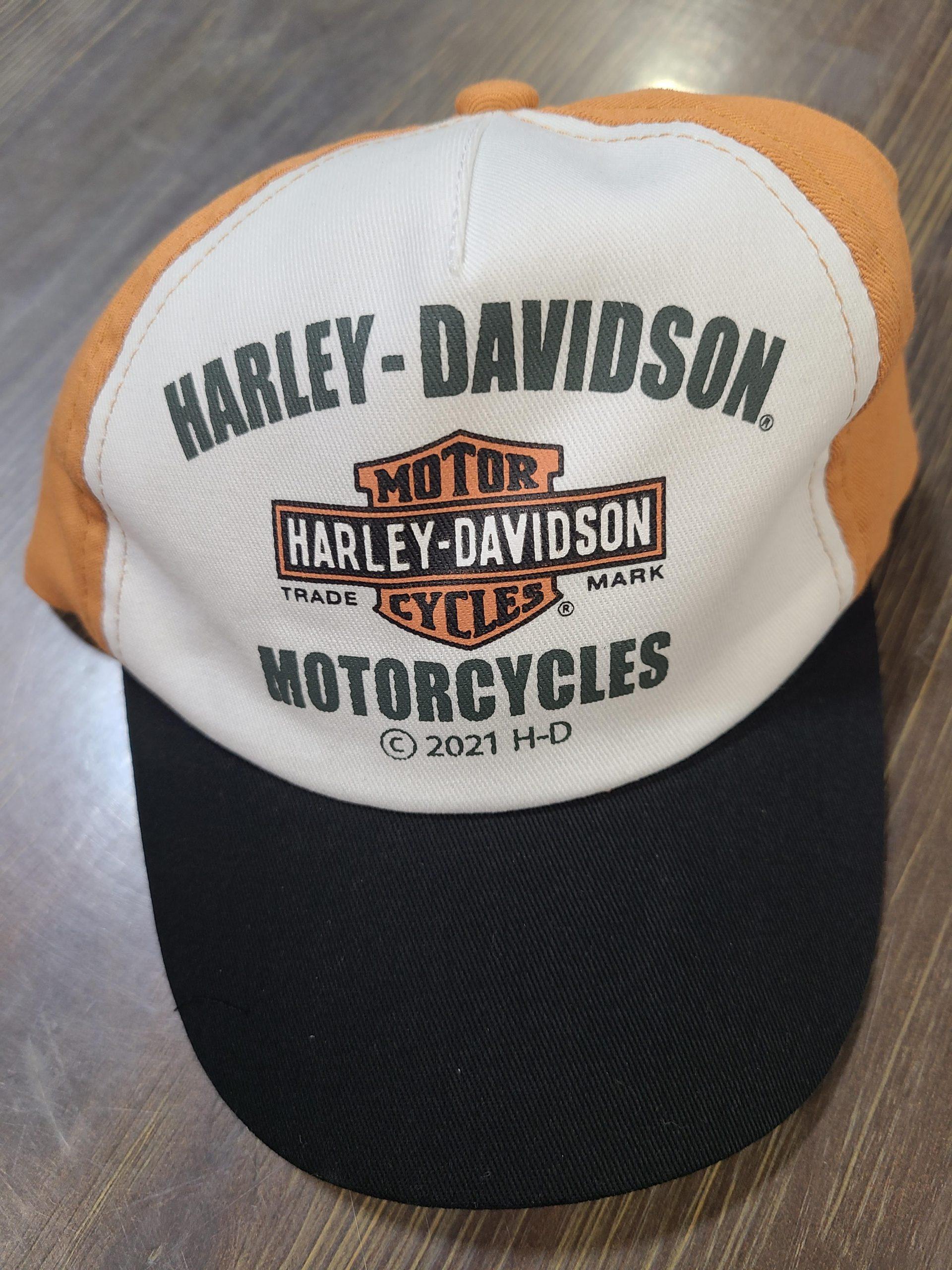 HARLEY DAVIDSON INF TOD BOY TWILL BALL CAP WHITE 12M/4T
