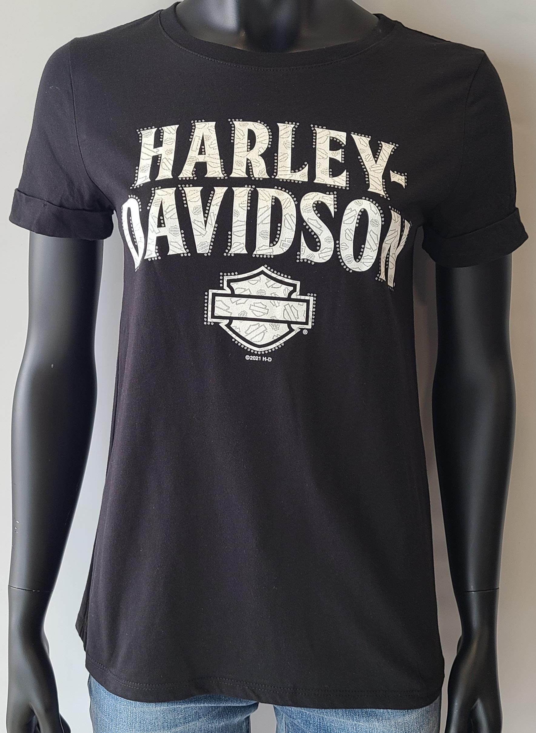 HARLEY DAVIDSON ARRANGE LDS CUFF T BK