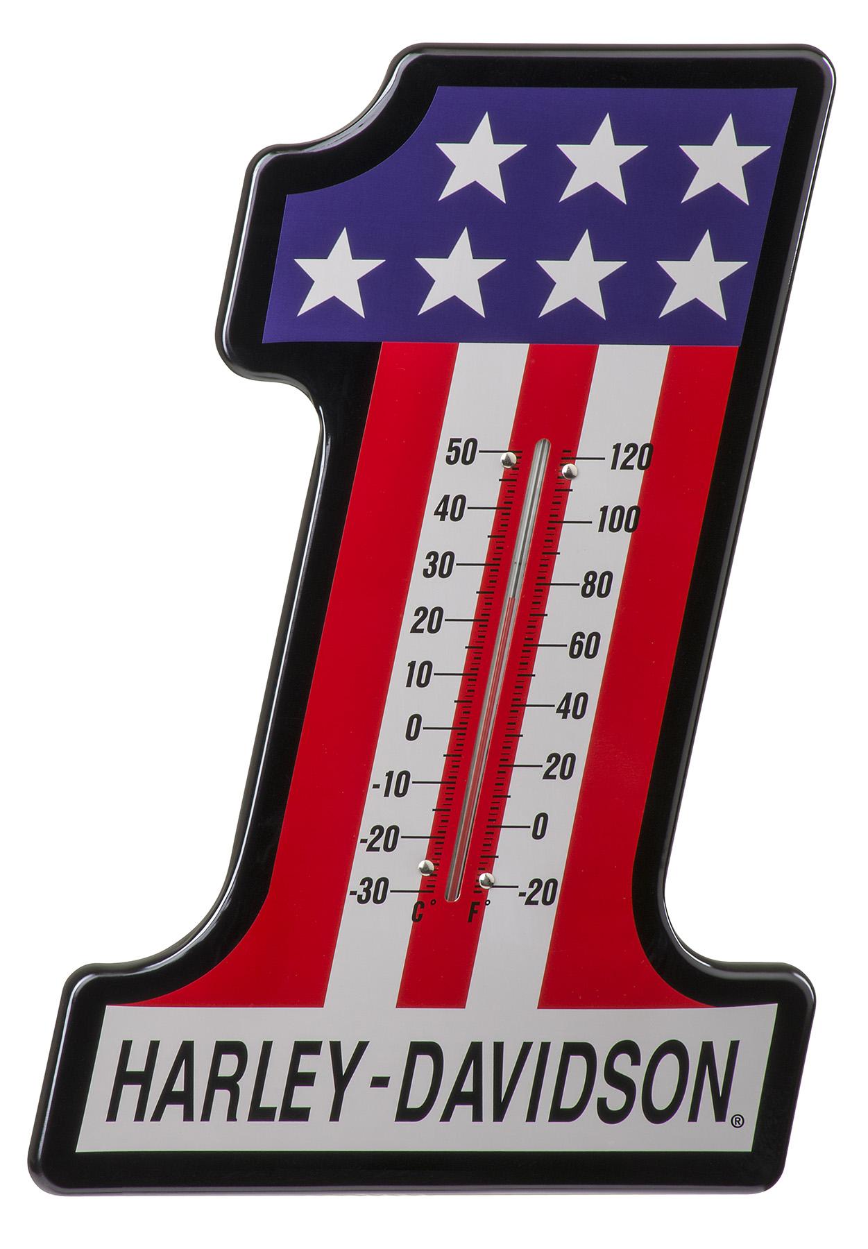 HARLEY DAVIDSON #1 RACING THERMOMETER