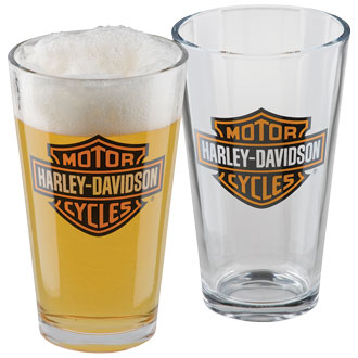 HARLEY DAVIDSON  BAR & SHIELD PINT GLASS SET