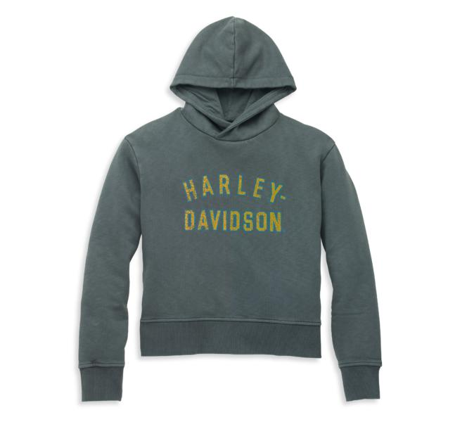 HARLEY DAVIDSON HOODIE-KNIT,BLACK