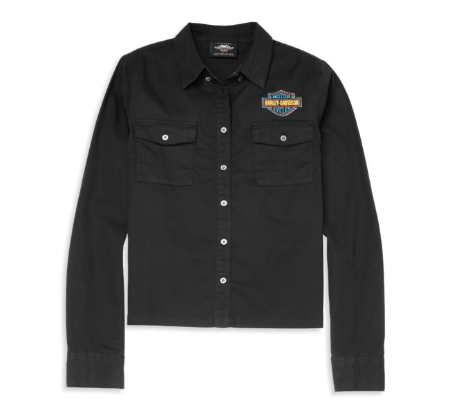 HARLEY DAVIDSON RACER FONT RELAXED FIT SOFT TWILL SHIRT