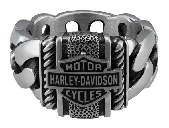 HARLEY DAVIDSON STEEL CURB LINK B&S RING