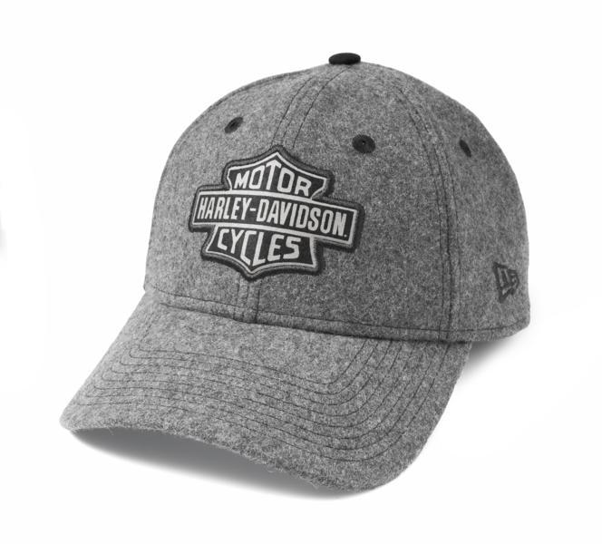 HARLEY DAVIDSON CAP-BB,WOOL,9TWENTY,GREY