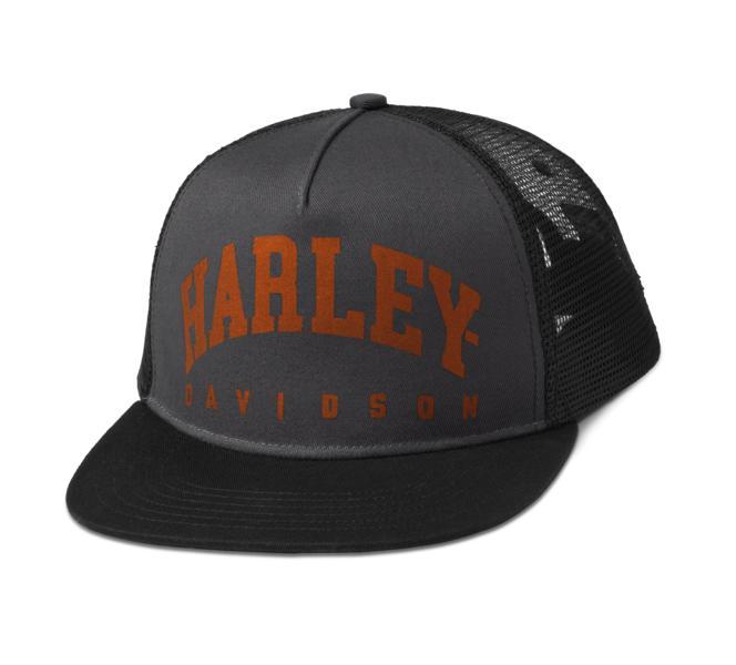 HARLEY DAVIDSON ARCHED TRUCKER CAP