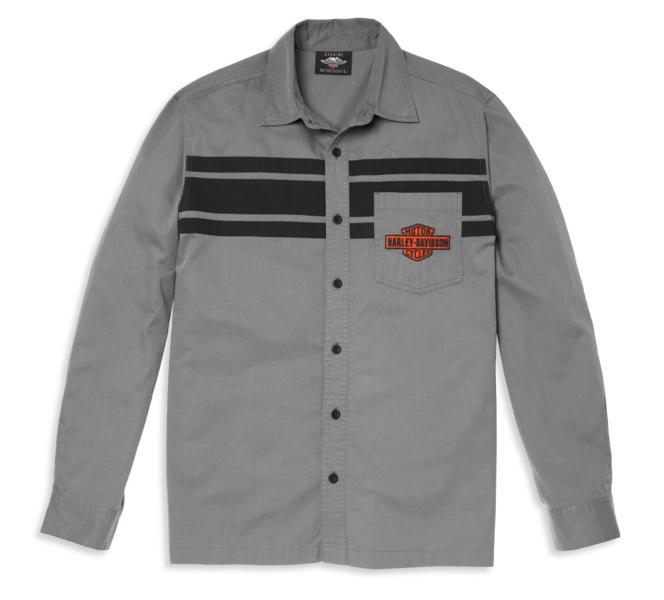 HARLEY DAVIDSON Men's Pocket Logo Colorblock Mechanics Shirt