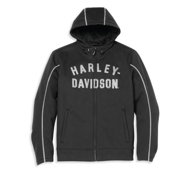 HARLEY DAVIDSON HOODIE-DEFLECTOR,TEXTILE,RIDING,BLACK