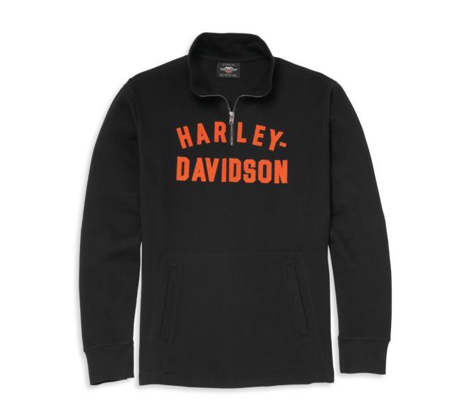 HARLEY DAVIDSON PULLOVER-KNIT,BLACK