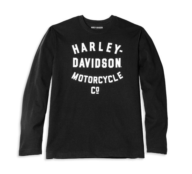 HARLEY DAVIDSON RACER FONT MOTORCYCLE CO. LONG SLEEVE GRAPHIC TEE